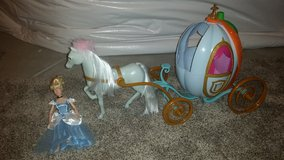 Cinderella doll and carriage in Naperville, Illinois