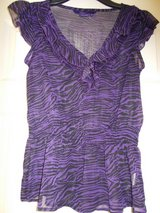 Top size M by Miley Cyrus Purple Black in Lakenheath, UK
