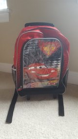 Cars Lightening McQueen Backpack with wheels in Aurora, Illinois