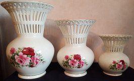 Victorian Rose Vases set of 3 in Byron, Georgia