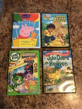 Set of 4 kids DVD, Peppa, Diego,Leap Frog and John Deere in Naperville, Illinois