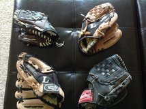 Baseball gloves (various prices) in Travis AFB, California