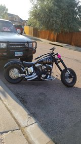 Custom Harley Davidson Chopper in Colorado Springs, Colorado