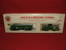 Burlington Northern HO Train Engine & Caboose Set by Bachmann NEW in Naperville, Illinois