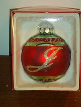 "NIB ""J"" ornament 4in. in Bolingbrook, Illinois"