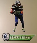 "Richard Sherman FATHEAD Official Player Graphic 25""x11"" +Name Sign 27"" *** NEW in Tacoma, Washington"