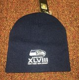 Seattle Seahawks Superbowl XLVIII Beanie Hat Navy Blue *** NEW *** in Tacoma, Washington