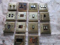 A selection of quality brass wall switches, sockets and dimmers , 14 total. in Lakenheath, UK