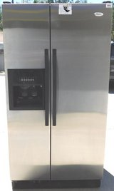 25 CU. FT.WHIRLPOOL SIDE-BY-SIDE REFRIGERATOR- STAINLESS (FINANCING) in Camp Pendleton, California