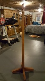 SOLID WOOD COAT RACK WITH BRASS HOOKS in Fort Knox, Kentucky