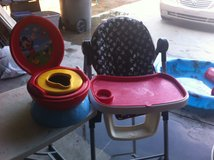 Baby High Chair and Potty Chair $45 or best offer. in Yucca Valley, California