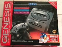 Sega Genesis 16bit Video Game in box, with two remote controllers and 3 games + 2 controllers in Camp Pendleton, California
