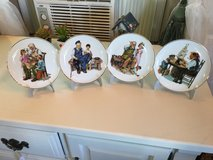 4 Norman Rockwell plates 24ktrim 61/2 diameter in Conroe, Texas
