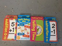 Math and Telling time cards in Warner Robins, Georgia