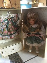 Lasting impressions doll dress in box with draw in Conroe, Texas