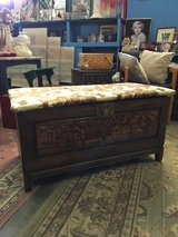 Hand carved chest in Alamogordo, New Mexico