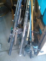 FISHING POLES AND TACKLE BOX in Yucca Valley, California