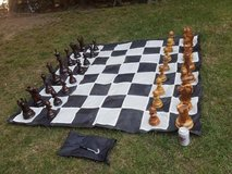 """Teak Chess Set with an 8"""" or 12"""" King and Nylon Chess Board in Camp Pendleton, California"""