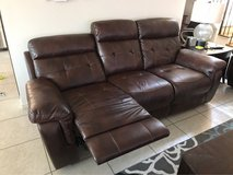 Leather-  reclining chair, theater/ love seat, and couch set in Okinawa, Japan