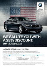 25% DISCOUNT MY2018 BMW 320I xDRIVE SEDAN in Spangdahlem, Germany