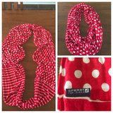 Sperry Top-sider red & white infinity scarf in Byron, Georgia