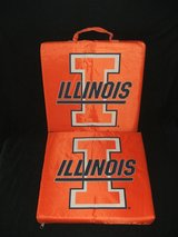 (2) Illinois Fighting Illini Stadium Seat Cushions in Plainfield, Illinois