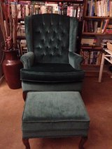 Classic comfortably designed arm chair with ottoman in Yucca Valley, California