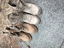 Steel toe boots in Fort Lewis, Washington