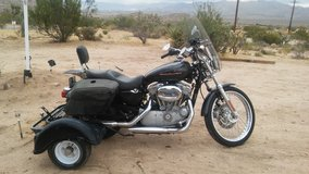 06 Harley Davidson Sportster 883 Custom Trike conversion. 1st 7K gets the trike & luggage trailer! in Yucca Valley, California