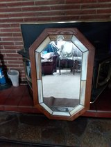 Antique Stained Glass and Wood Framed Mirror in Tacoma, Washington