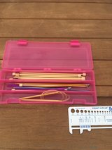 Bamboo Knitting needles and container in Yucca Valley, California