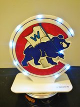 New Chicago Cubs Homemade light-up display piece by local artist in Chicago, Illinois