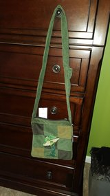 Green purse in Fort Drum, New York