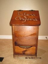 Vintage Hand Made Potato & Onion Wood Storage Box in Travis AFB, California