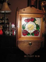 Hand made stained glass clock in Travis AFB, California
