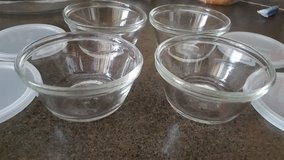 Anchor Four Glass bowls with lids in Chicago, Illinois