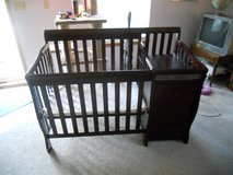 crib with changing table in Naperville, Illinois