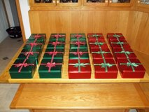 BULK LOT OF 20 SQUARE CHRISTMAS TINS - NEW & UNUSED! in Cherry Point, North Carolina