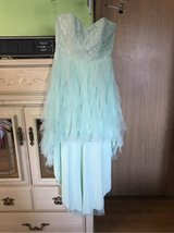 light mint green tube dress used once in Fort Lewis, Washington