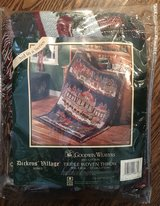 """NEW"" Department 56 Goodwin Weavers Dickens Village Triple Woven Throw- Victoria Station in Naperville, Illinois"