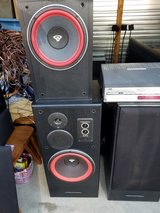 Cerwin Vega Speakers and one 10 in powered sub in Fort Leonard Wood, Missouri