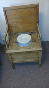 antique wooden potty chair in Yucca Valley, California