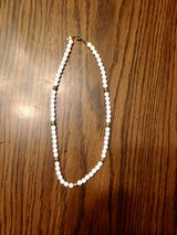 "Short 8"" White & Gold Colored Necklace in St. Charles, Illinois"