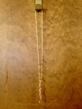"16 1/2"" Silver Chain w/Peach Stones Necklace in St. Charles, Illinois"