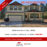 Looking for privacy? Look no further! Home on 2+AC near JBLM! in Tacoma, Washington