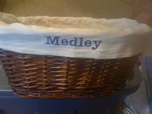 Wicker Basket with your Monogrammed name in Fort Campbell, Kentucky