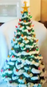 "Beautiful  Vintage 21"" Ceramic Tree Christmas  with 114 lights and stand in Alamogordo, New Mexico"