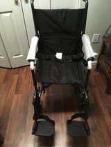 """NEW DRIVE MEDICAL LIGHTWEIGHT STEEL TRANSPORT WHEELCHAIR, FIXED FULL ARMS, 19"""" SEAT in Fort Knox, Kentucky"""
