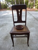 Antique chair/planter in Beaufort, South Carolina