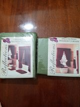 Moss Green Window and Shower Curtains in Pearland, Texas